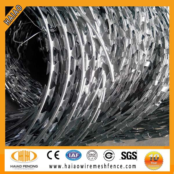 ISO & SGS standard razor barded wire for Wholesale