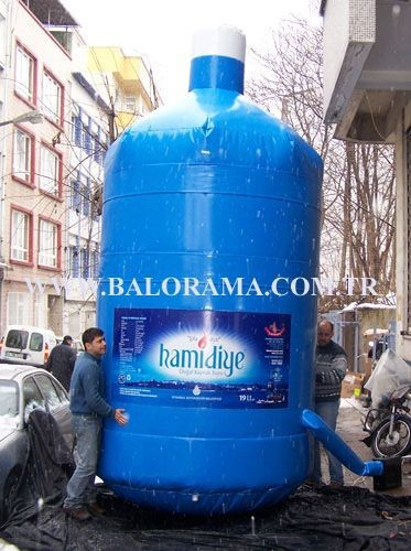 giant advertising balloon water bottle, inflatable bottle