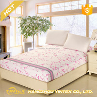 Luxury 400 Thread Count Sateen Stripe Linens 1800 Thread Count /Microfiber Bed Sheets for Hotels