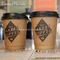 custom printed take away biodegradable double wall coffee disposable paper cups for coffee