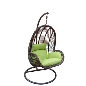 Garden Synthetic Wicker Hanging chair patio weaving Swing Chair Outdoor wicker handicraft Furniture