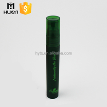 custom logo printing green plastic perfume spray bottle