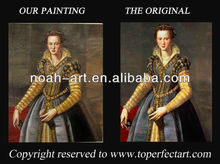 Hot-selling classical women oil paintings on linen canvas