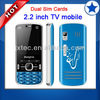 2013 factory price TV mobile phone dual sim celular Q6