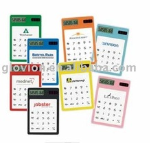 clear plastic solar pocket calculator