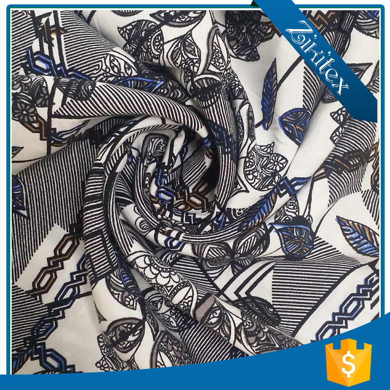 high quality cotton printed twill fabric price