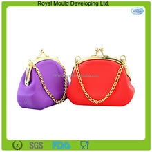Fashion bulk wholesale silicone rubber smart wallet/coin purse