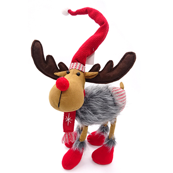 40CM standing plush christmas moose custom christmas ornaments