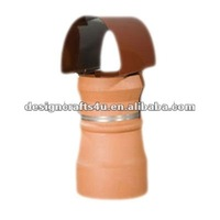 terracotta clay chiminea outdoor fireplace