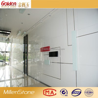 Top class white artificial stone for interior wall panels