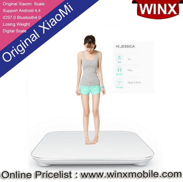 Xiaomi Mi Smart Body Delicate Weight Scale for Android 4.4 Bluetooth 4.0 Above Smartphone
