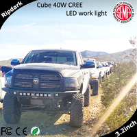 High-end France car 3inch led bar light 20w 40w France 3' led 4x4 cree led driving light