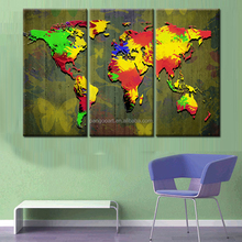 modern abstract map Canvas Print Painting Modern Wall Art Home Decoration