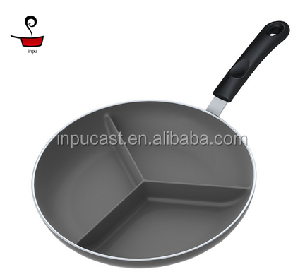 non-stick cast iron divided gas griddle