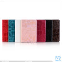 For iPad Mini 4 case crocodile pu leather, for ipad mini 4 stand cases