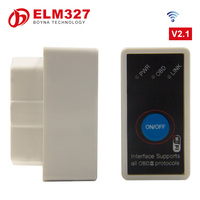 2016 Hot sale mini ELM327 wifi obd2 with power switch Code reader Diagnostic for iphone Android i-p-a-d