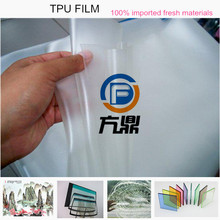 Hot sale high tensile strength bulletproof laminated glass TPU film