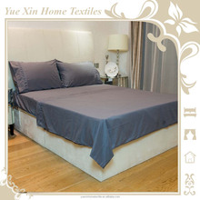 New Microfibre Bed Sheet Set in Grey Solid Color,include flat sheet,fitted sheet and pillowcase
