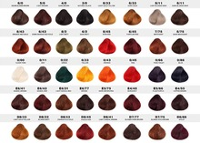 Manufacture Multi-color hair color chart hair dye color chart swatch