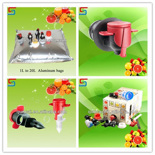 High quality red and black butterfly tap/vitop for bag in box