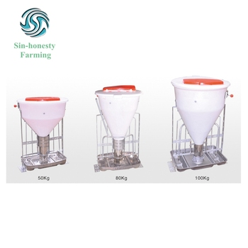 Hog raising equipment automatic fattening pig dry wet feeder for sale