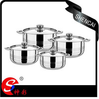8 PCS Stainless Steel Insulated Casserole With Various Size/Stock Pot Set/Cookware Sets