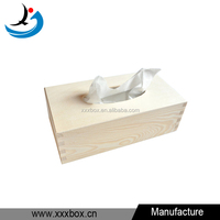 High Quality Handmade Unfinish Wooden Tissue