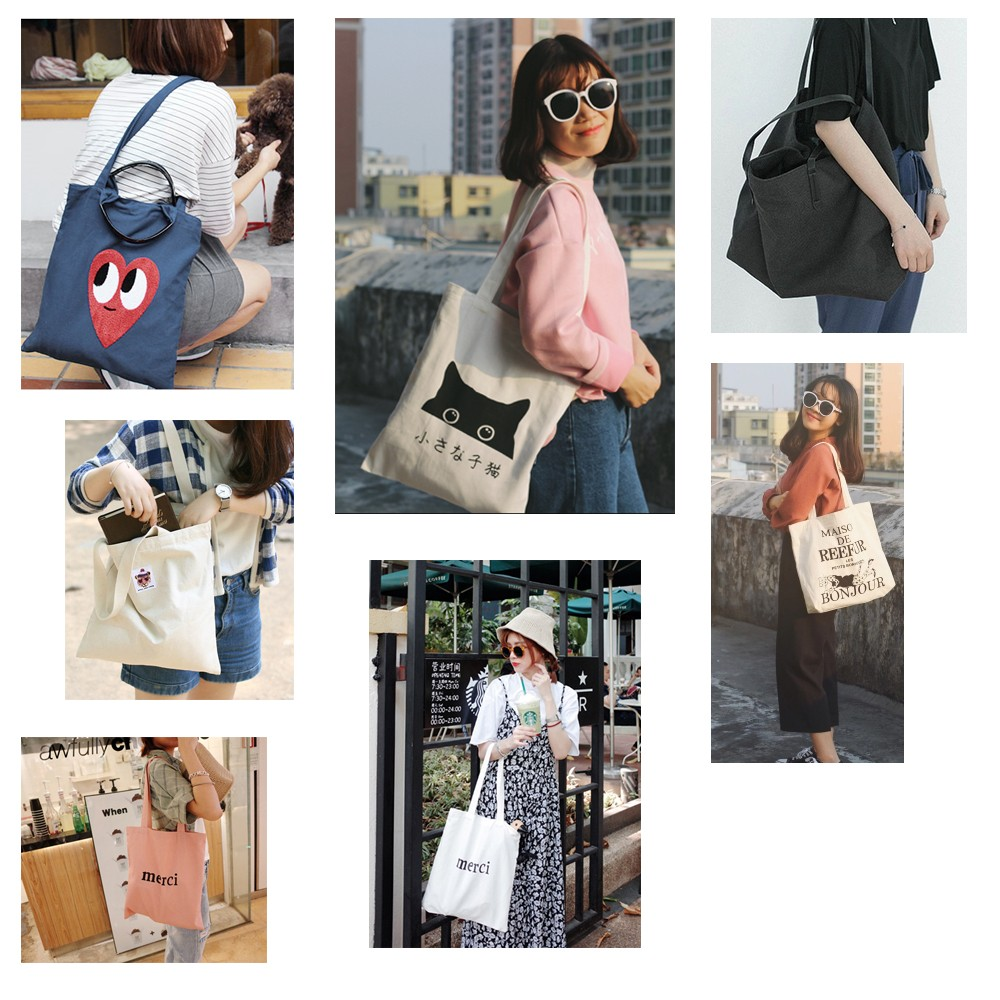 Hot Sale Custom Logo Printed Canvas Bag Cotton Canvas Shopping Tote Bag
