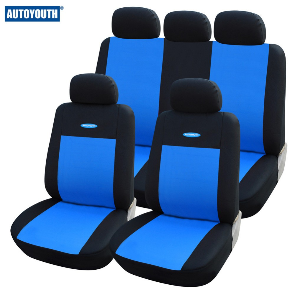 High Quality coach blue Car Seat Covers Universal Fit Polyester 3MM Composite Sponge car seat cover for auto