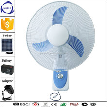 16 inch wall fan mountiing solar fan with oscillation and transparent blade