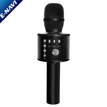 Amazon Best Seller Wireless Karaoke Microphone 3 in 1 Handheld Portable Black Speaker Machine for Android/iPhone/iPad/PC