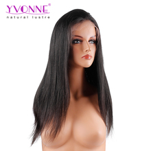 Unprocessed Brazilian Virgin Hair Natural Straight Lace Wig For Black Women