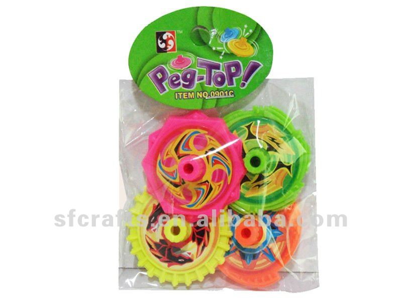 funny child toy plastic spinning top