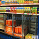 Welded wire mesh demountable supermarket folding european roll container