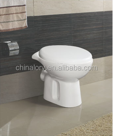 Fashion design WC Sanitray ware two piece toilet bowl squat pan with P trap