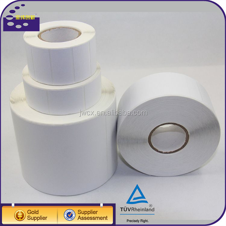 custom peel off sticker paper roll adhesive barcode printer labels