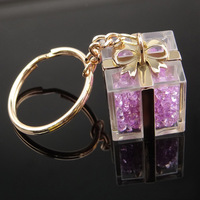 Gift shape promotional crystal keychains