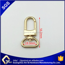 19.3mm Gold Metal D Ring Swivel Snap Hook For Bags Handbags