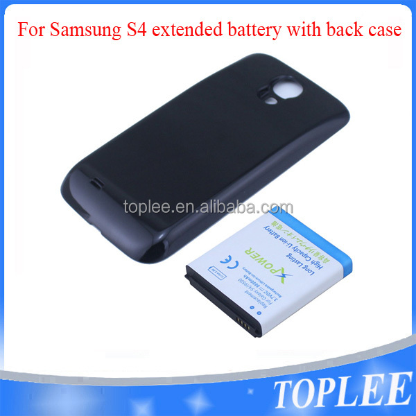 5800mAh Mobile Phone Cover+battery For samsung mobile phone S4/i9500 extended battery with back case