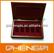 Hot!!! Customized Made-in-China 5 Olive Oil Bottles Wood Packaging Box(ZDE13-W015)