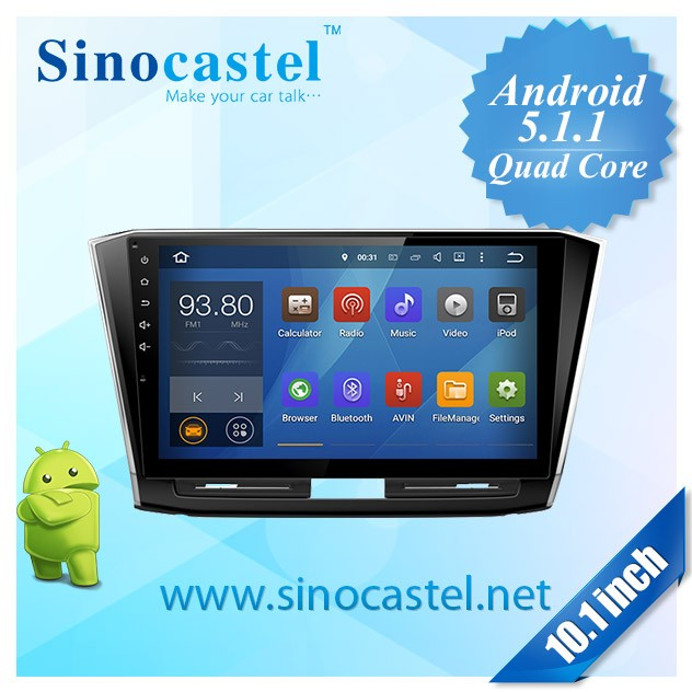 "Premium Android 5.1.1Car Infotainment Audio System for VW Passat 2015 with GPS, 10.1"" touch screen, Bluetooth, Mobile link"