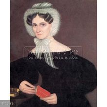 Handmade famous classical woman oil painting portrait on canvas, jane marie pells phillips