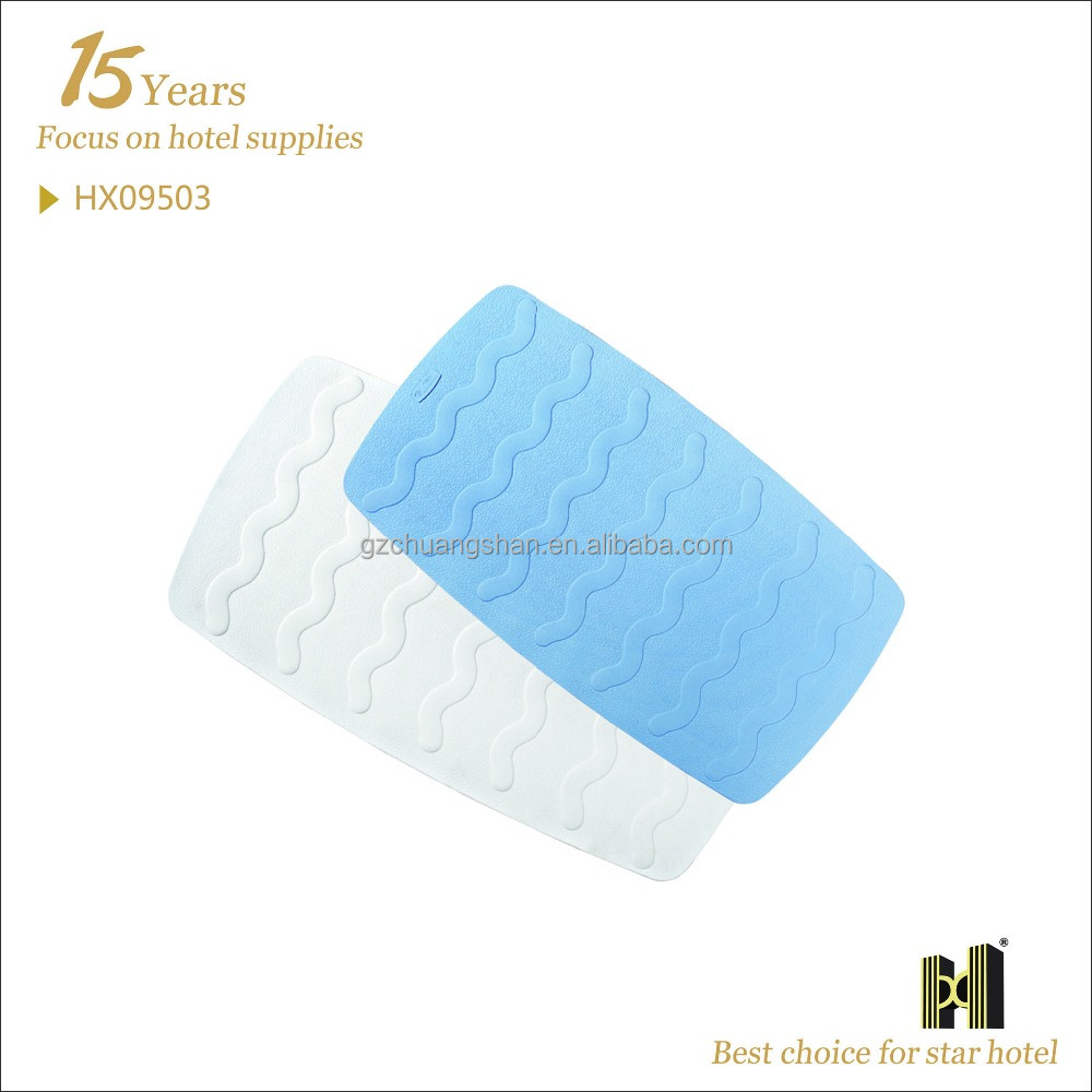 Wave Design Rubber Material anti slip bath mat