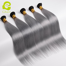 100% human virgin hair 1b/grey weaves straight hair extension brazilian hair weave