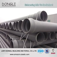 Light weight rigid pvc water pipe irrigation pipe 160mm 200mm for sale