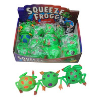 5140918-21 squeeze frog squishy frog toys
