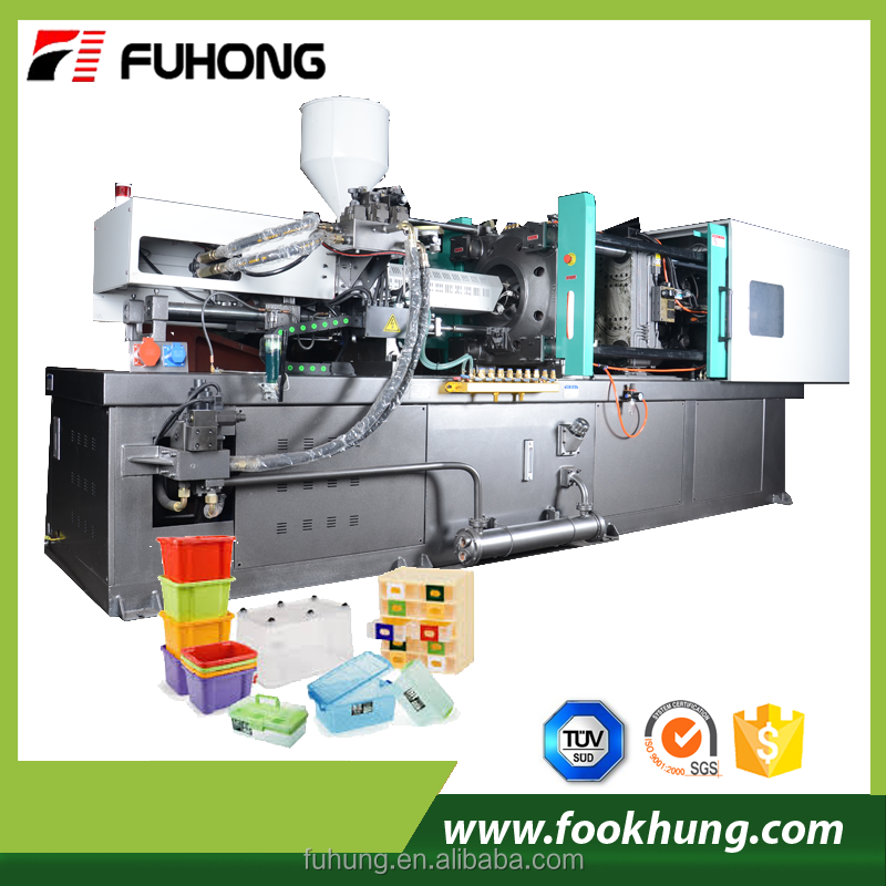 Ningbo fuhong CE small desktop pc pp pvc ppr 138ton injection molding machine with fixed pump