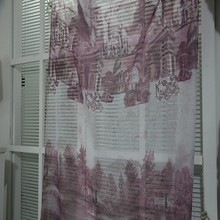 High quality Italian hotel woven solid printed sheer drapery fabric imported curtains
