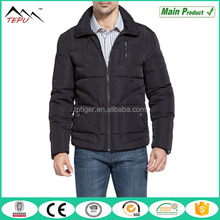 Fashionable Black Warm Winter Men's Quilted Down Jacket