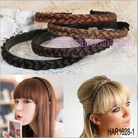 Fashion and Rayon Plaited Hair Bands, Multi Color Plait Headbands,Hairband/ Wig Hair Hoop